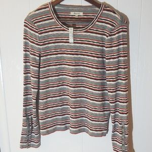 Madewell Tops - Madewell Striped Button Cuff Top